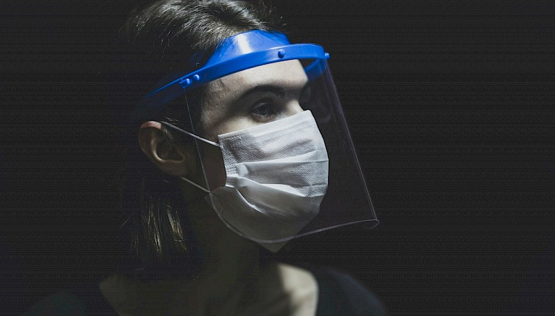 PPE face shields and masks